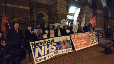 TUSC supporters lobby Newham council, January 2017